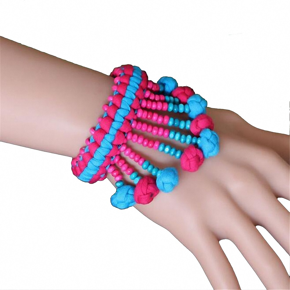 with cloth and bracelets knots bracelet beads fiber hardware