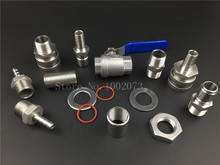 Stainless Steel Beer brewing Weldless Kettle Ball Valve 1/2NPT Kit Quick Disconnect Set, Pipe Fitting Nut and bulkhead assembly 1 2 npt stainless steel hex nipple thin nut and flat washer set homebrew weldless bulkhead for beer keg kettle valve