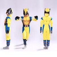 Nuovi bambini muscolari X-men costume tuta vestiti personaggio del film halloween costumi cosplay per i ragazzi Super Eroe pieno set