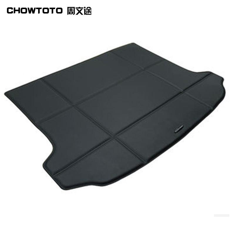 CHOWTOTO AA Auto Trunk Mat For Volkswagen Tiguan Car Trunk Mat Waterproof Health Eco Carpets VW Tiguan Car Luggage Pad all surround car trunk mat for volkswagen vw 2017 tiguan l anti slip leather trunk pad customized floor mat 3d car style