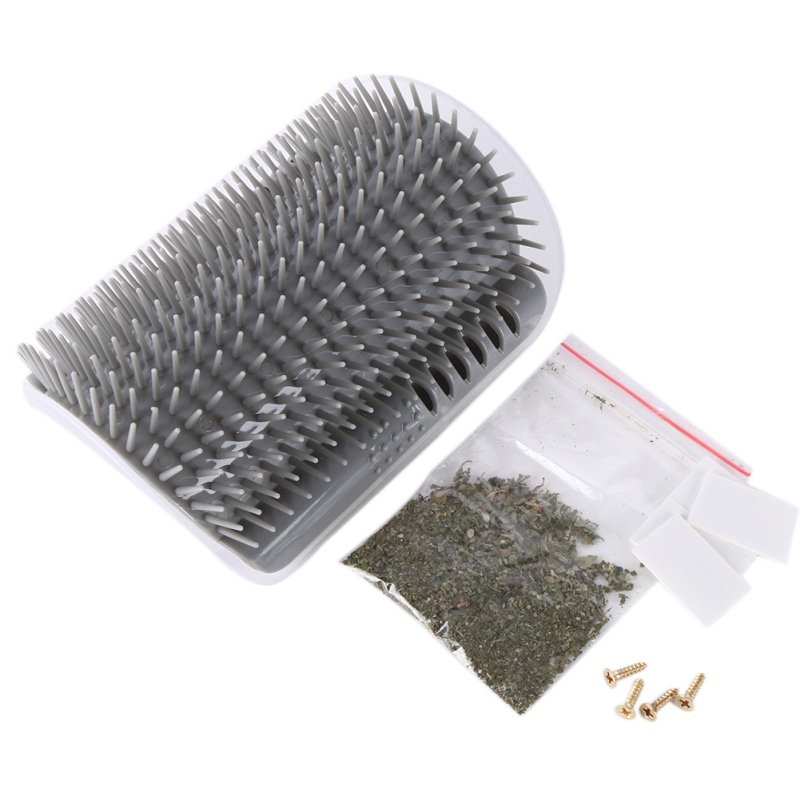 Cat Self Grooming Tool with Catnip for Extra Hair Removal of Cat including Shedding and Trimming