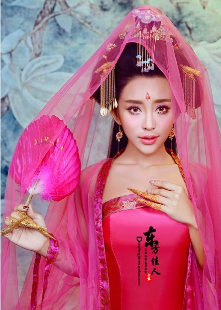 Rao TV Play Legend Of Chinese Empress Wu Meiniang Rose Tang Costume Hanfu For Women For Princess