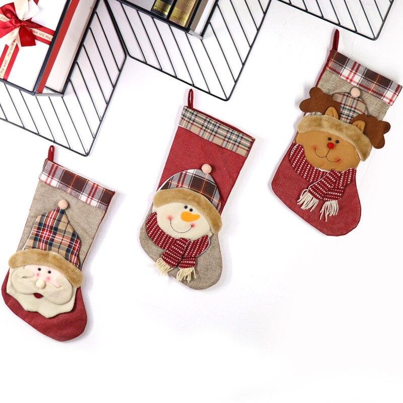 PMYUMAO Weihnachten Süßigkeiten Beutel Weihnachten Plaid ...