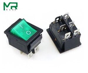 Image 4 - KCD4 interruptor basculante de 2 posiciones, 4 pines/6 pines, equipo eléctrico con interruptor de encendido ligero, tapa del interruptor 16A 250VAC/ 20A 125V