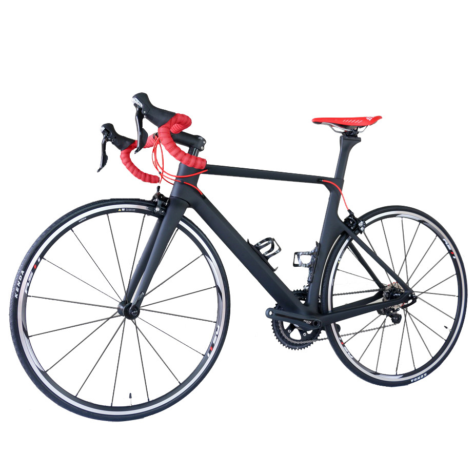 2019 Aero carbon road desgin complete bike TT-X1 intergrated aero handlebar with 22 speed Sh1mano R7000 groupset