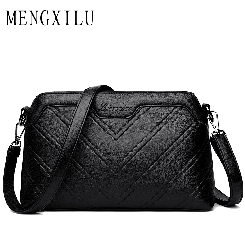MENGXILU Brand Spring High Quality Women Shoulder Bag Designer PU Leather Crossbody Bags Small Flap Women Handbags Sac A Main 2018 floral luxury handbags women bag designer pu leather bag women messenger bags small chain crossbody shoulder bag sac a main