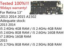 Оригинальная материнская плата i5 2,6 ГГц 8 Гб i7 2,8 ГГц 16 Гб для MacBook Pro retina 13 «A1502 материнская плата 661-8146 820-3476-A 2013 2014
