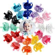 JOJO Siwa Girls hair Bow 6 inch Printed Unicorn Grosgrain Ribbon Kids Cheer Bows Hair Elastics Rubber Bands Headwear