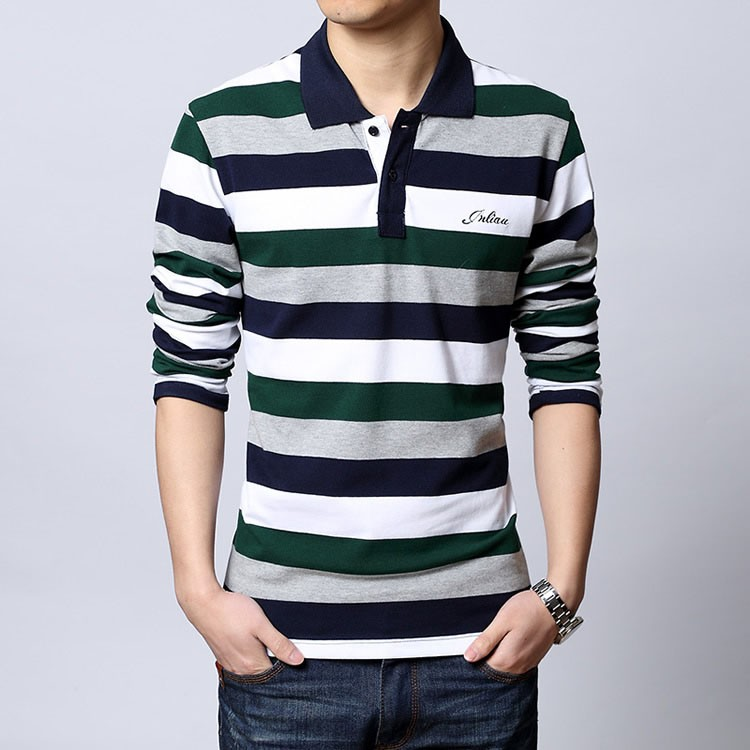 Polo shirt men Letter Embroidered Strip Polo Shirt 2016 Summer brand Turn-down Collar Casual Cotton Polo Shirt  Plus Size M-5XL (6)