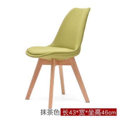 Простой современный домашний стул для столовой задний офисный стул креативный твердый деревянный Северный стул - Цвет: 6