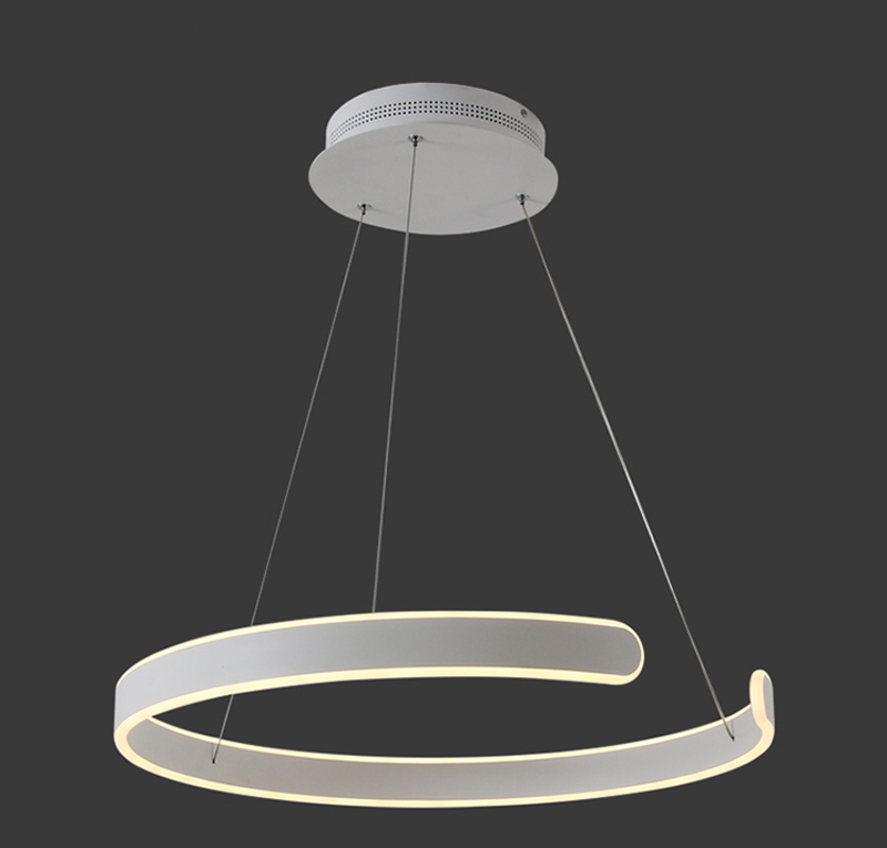 HTB1vhnWgQ9WBuNjSspeq6yz5VXaC AC90-264VModern pendant lights for living room dining room Geometry Circle Rings acrylic aluminum body LED Lighting ceiling Lamp