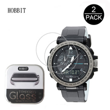 2PACK For Casio PRG-650 / 260 / 500 / 600 0.3mm 2.5D 9H Clear Tempered Glass Screen Protector Anti-Scratch Smartwatch Film prg 4000