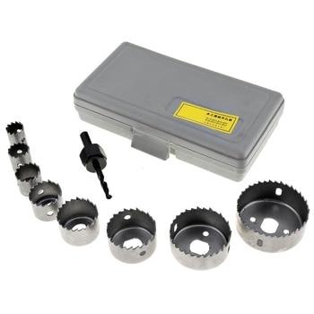 цена на TORO 8pcs 19-64mm Hole Saw Bit Cutting Set Kit Drilling Tool Metal Wood Cutter Kit Round Case Drill Bits for Gypsum Board