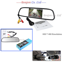 High resolution 5″ Colorful Screen TFT LCD Car Rearview Mirror Monitor 800*480 Resolution DC 12V car Monitor for DVD Camera VCR