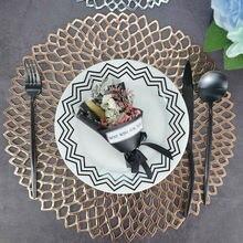 Круглый подстаканник, Изоляционные Коврики для стола, подушечки, пластиковая настольная салфетка, Нескользящие Коврики для кофе, чая, коврики для кухни, украшение