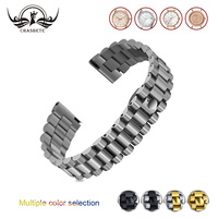 Stainless Steel Watchband 18mm 20mm 22mm for Fossil Watch band Quick Release Band Metal Strap Wrist Bracelet Black Silver + Toot