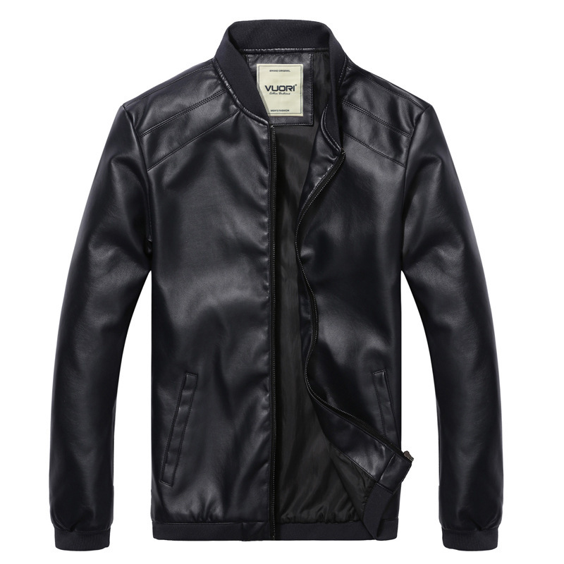 Leather Bomber Jacket Men With Hood yOAnsl