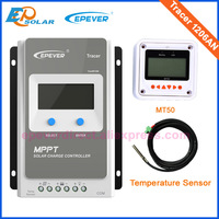 12V 10A battery charger solar tracking regulator MPPT EPEVER Solar panels 130W system temperature sensor Tracer1206AN
