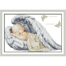 Фотография Everlasting love Christmas Little angel birth Ecological cotton Chinese cross stitch kits 14 CT  counted stamped sales promotion
