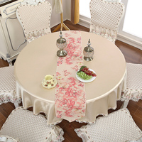 1/12/13 pcs/set Luxury Round Tablecloth Chair Cover for Wedding Hotel Home Decoration Table Cover Dining and Coffee Table Cover