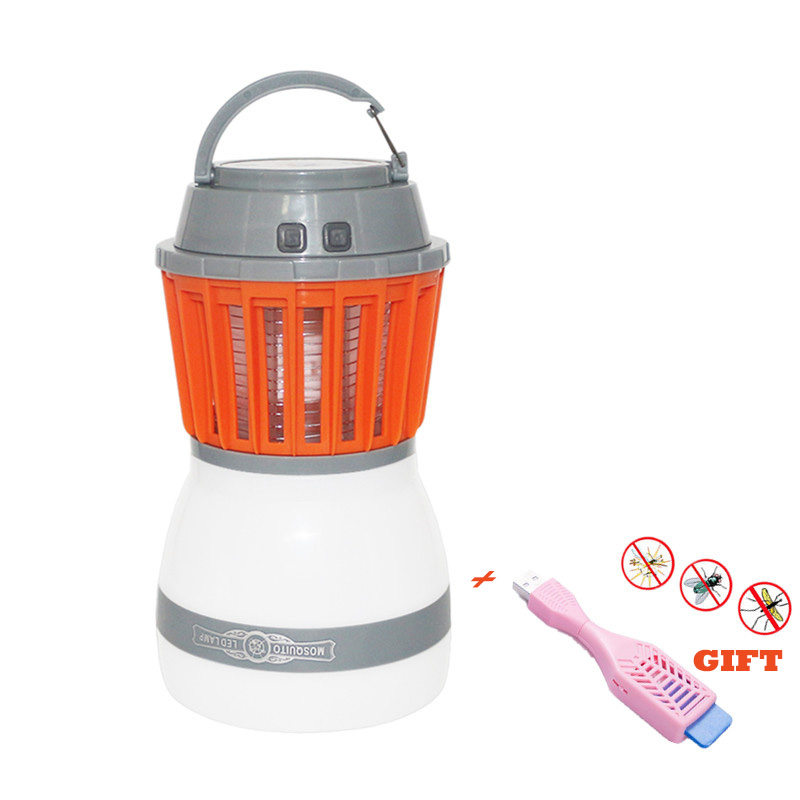 2in1 Portable USB Charging LED Camping Light Waterproof Mosquito Killer Lamp Pest Repeller 2000mAh Rechargeable Battery & GIFT mosquito contral lantern camping light usb charging mosquito killer lamp multi purpose pest repeller waterproof bug killer