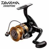 DAIWA SWEEPFIRE Spinning Fishing Reel 1500/2000/2500/3000/3500/4000 Fishing Reels 2BB 5.3:1 Saltwater Carretilhas Pesca Reel