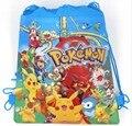 6 Unids Pokemon Pikachu Cartoon Kids Morral del Lazo Comercial Escuela Viajan Bolsos de Fiesta de Regalos de Cumpleaños