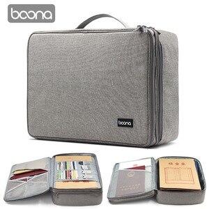 Image 4 - Boona シングル & デュアルオックスフォード防水ドキュメントバッグオーガナイザー論文収納ポーチ資格バッグ卒業証書収納ファイルポケット