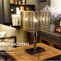 AC 90V-260V Smoke gray decorative Desk Lamps vintage glass moden table lamps for living room Bedroom study lamps LED E27