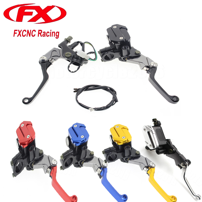 FXCNC 7/8 22mm Universal Motocross Dirt Bike Brake Clutch Lever For Honda CR125R CR250R 1992-2007 Hydraulic Brake Lever Pit bike for 22mm 7 8 handlebar motorcycle dirt bike universal stunt clutch lever assembly cnc aluminum