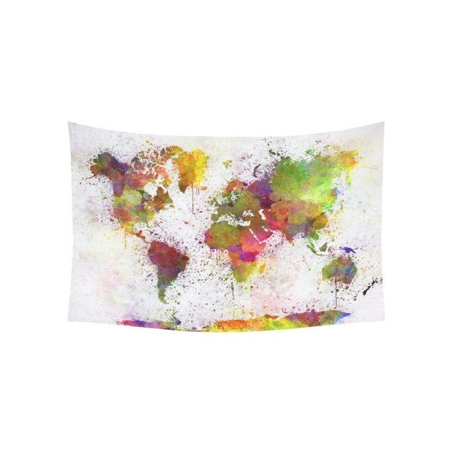Warm tour abstract art splatter painting home decor watercolor warm tour abstract art splatter painting home decor watercolor world map tapestry wall hanging art gumiabroncs Images