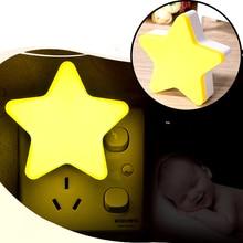 Light-Sensor-Control Led-Night-Light Baby Bedroom Star Mini for Children Bedside-Lamp