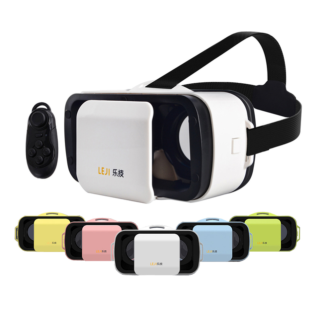 Новый VR Очки LEJI VR Mini VR BOX III Виртуальная Реальность 3D Очки Для Смартфонов + Bluetooth 3.0 Пульт дистанционного управления