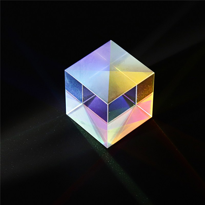 20x20mm K9 Cube Defective Cross Dichroic Prism RGB Combiner Splitter Glass Decor Square X-Cube RGB Teaching Tools Decoration