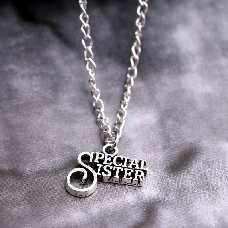 Familia colgante collar joyería de moda hermana madre hija papá abuela familia BFF amor corazón collares rompecabezas cuadrado regalo