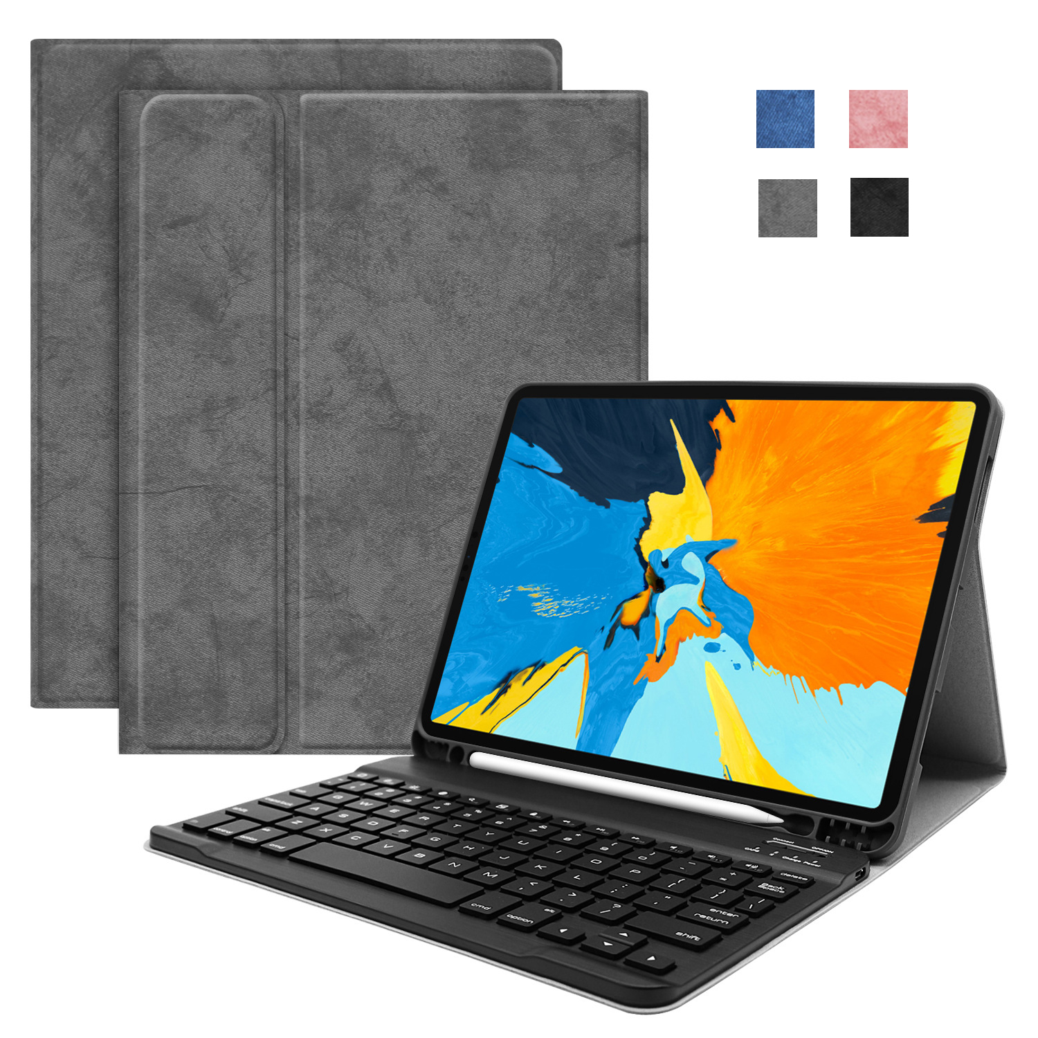 For iPad 2018 Case with Keyboard Wireless Bluetooth PU Leather Magnetic Cover for IPad 6th Generation Air 1 Air 2 9.7 2017 Funda