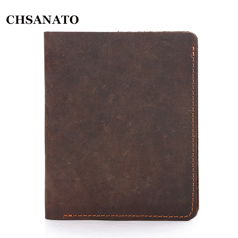 New 2018 Vintage Crazy Horse Handmade Leather Men Wallets Multi-functional Coin Purse Genuine Leather Wallet For Men eastnights vintage crazy horse handmade leather men wallets multi functional cowhide coin purse genuine leather wallet tw1603