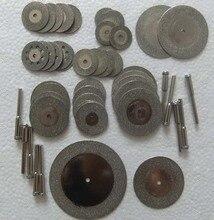 38 unids disco de corte de diamante para herramientas dremel accesorios mini conjunto de herramientas rotativas rueda circular hoja de sierra de diamante muela vio