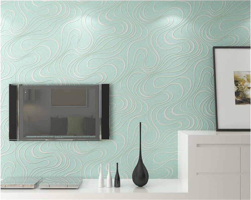 beibehang tapety 3d modern streamlined abstract television ...