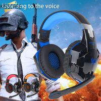 KISSCASE Wired Headphone LED Gaming Headset Headphone Earphone Music Microphone For PS4 Play Station 4 Game PC Chat For phone