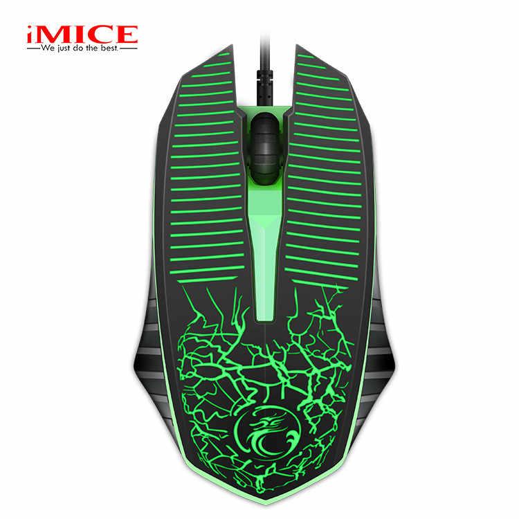 を IMICE M8 LED 繊維 USB ケーブルゲームマウスライン 3 ボタンプレーヤー卓上ラップトップ c30