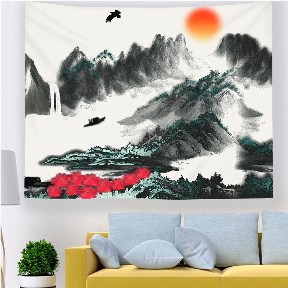 Tapestry Wall Hanging Tapiz Pared Tela Psychedelic Tenture Murale Tissus Wall Carpet Robotech Arazzo Da Parete Tapestries image