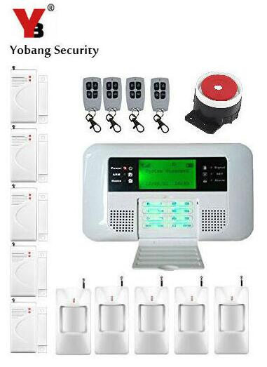Yobang Security LCD GSM SMS Alarm For Home Apartment Wireless PSTN Alarm Home Security Alarm System With Wired Siren yobang security touch lcd screen pstn sms alarm system home security gsm alarm system quad band wireless alarm panel