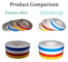 1.0CM x 1Meter DIY 3M Reflective Sticker Automobile luminous strip car & motorcycle Decoration Decals Vinyl Sticker