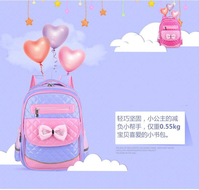 Das Crianças mochila Ortopédico Primário princesa Escola