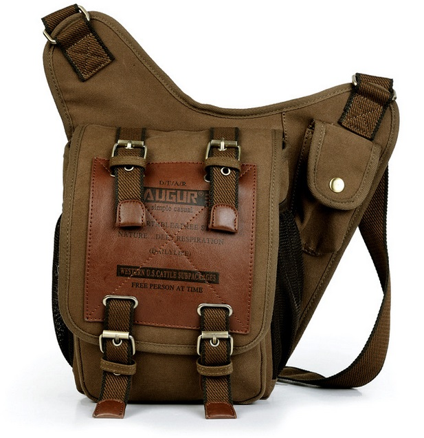 Hot Sales KAUKKO Brand Retro Vintage Canvas Bag Travel Men Messenger Bag Man Crossbody Bags Shoulder Bags For Men
