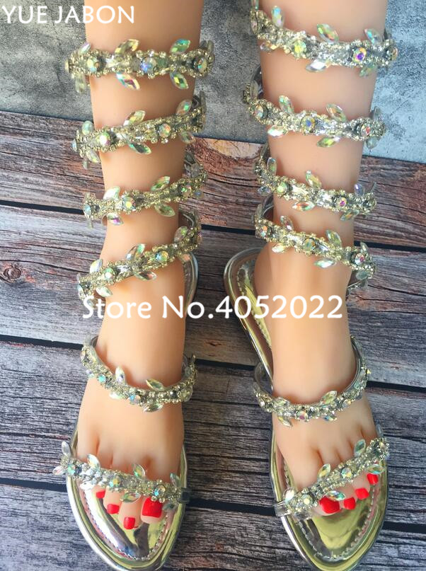 0b510274071 Women Snake Women Punk Bling Shoes Gladiator Sandals Wedding Flat