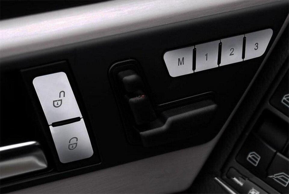 12 pièces ABS Siège Mémoire Déverrouillage bouton de commutation Réglage Garniture Pour Mercedes Benz ML W166 & GL X166 2012-2015