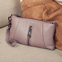 Sacs à main de luxe en cuir véritable pour femmes, pochette Fashion, pochette à bandoulière, portefeuille