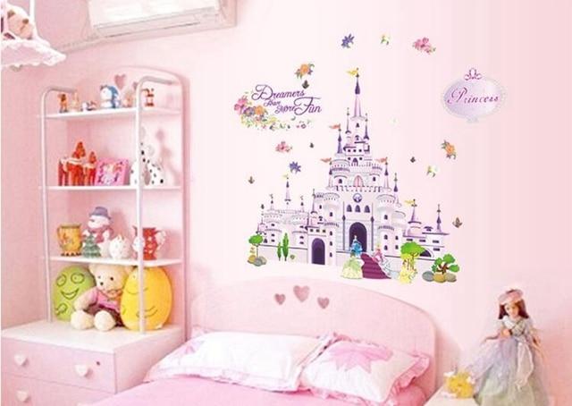 2017 New Fairy Tale Princess Castle Wall Sticker Vinyl Home Decor ...